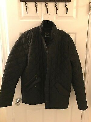 Mens Barbour Chelsea Sport Quilted Jacket Medium, Black, tags included, New!