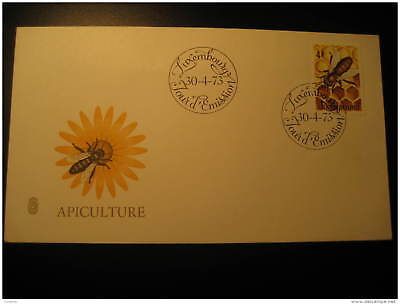 BEEHIVE HONEYCOMB BEE HIVE BEES HONEY BEEKEEPING APICULTURE Luxembourg 1973 FDC