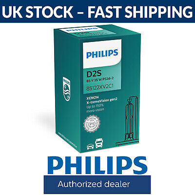 Philips Xenon X-treme Vision gen2 HID Car Headlight Bulb D2S (Single) 85122XV2C1