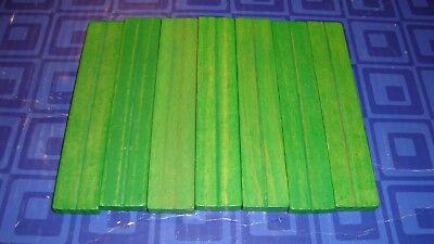 Vintage Lincoln Logs, 7  Wooden Roof Pieces, All Green   Smoke Free Home
