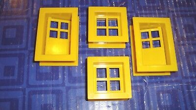 Vintage Lincoln Logs, 2 Plastic Doors, 2 Windows, Yellow  Smoke Free Home