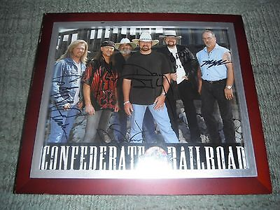 Confederate Railroad - Classic American Country Rock - Signed Framed Band Photo