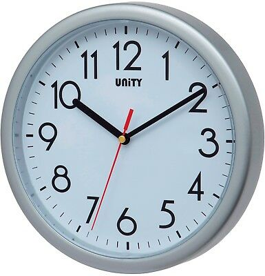 Unity Hastings Silent Sweep Wall Clock In Silver