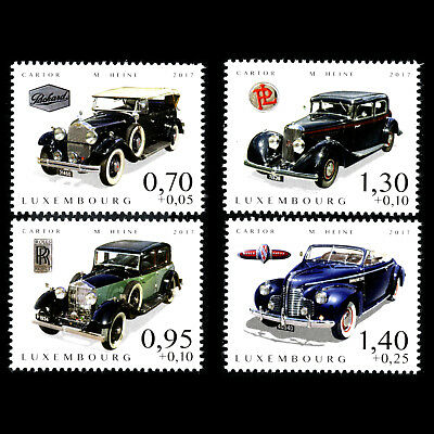 Luxembourg 2017 - Cars of Yesteryear Transport - MNH