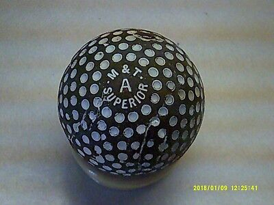 Rare Vintage Antique Unusual M & T A Superior Dimple Golf Ball