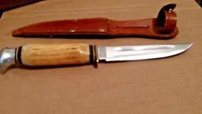 Vintage Anton Wingen Jr. Othello Hunting Knife With Sheath Made Solingen Germany