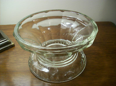 Crystal ClearHeavy Glass Antique Large Punch Bowl Base or Cake Dish Base