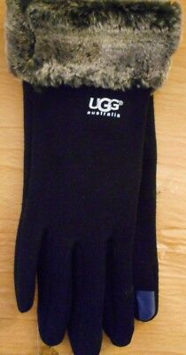 UGG Ladies  gloves - one size fits all- black - last one - new computer gloves