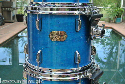 """PEARL EXPORT SERIES 12"""" x 10"""" BLUE MIST RACK TOM w/ ISS for DRUM SET LOT #G953"""