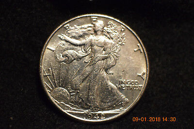 1942 Uncirculated Walking Liberty Half Dollar................#1492