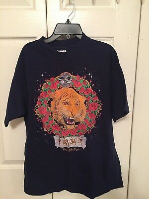 Vintage 1987 Grateful Dead Chinese New Year Of The Tiger Parking Lot Tee