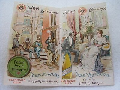 Antique Pabst Milwaukee Brewing Beer Victorian Advertising Trade Card Booklet