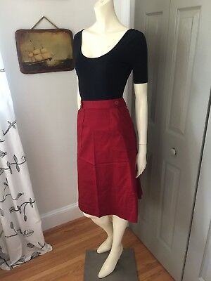Vintage 1970s Burgundy A-line Skirt By Wendy Winter S/M