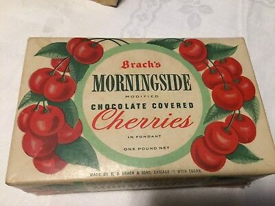Vintage Empty Box Brach's Morningside Modified Chocolate Covered Cherries 1 LB