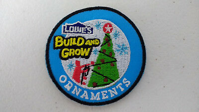 Lowe's Build and Grow CHRISTMAS ORNAMENTS Iron-On Patch NEW