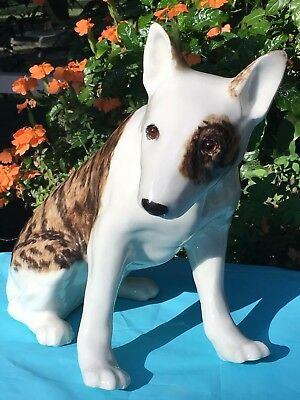 Winstanley English Bull Terrier Dog - Large Ceramic - Hand made in England.