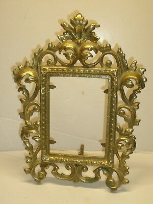 Vintage Ornate Victorian Baroque Solid Brass Picture Frame Swivel Stand Canada
