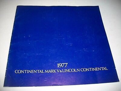 1977 Lincoln Continental  & Continental Mk V Oversize Sales Brochure Cdn Issue