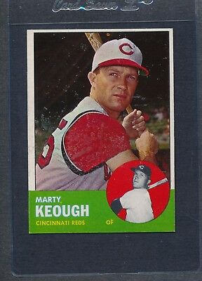 1963 Topps #021 Marty Keough Reds EX *2033