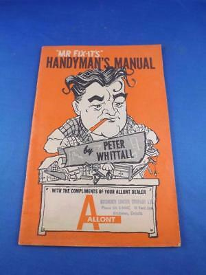 Mr Fix-Its Handymans Manual Peter Whittall Allont Kitchener Canada Lumber Build