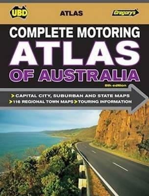 NEW Complete Motoring Atlas of Australia By UBD Gregorys Spiral Ringed Book