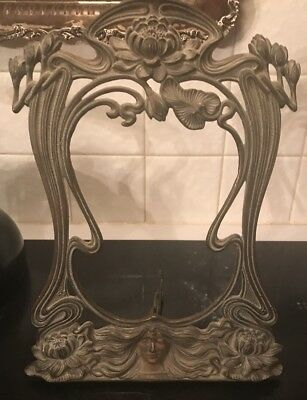 Beautiful Antique French Art Nouveau Bronze Frame