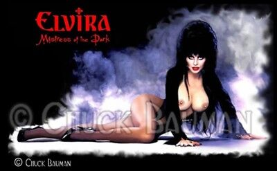 Fridge Magnet Elvira Classic Pose nude girl macabre horror pin-up girl art R