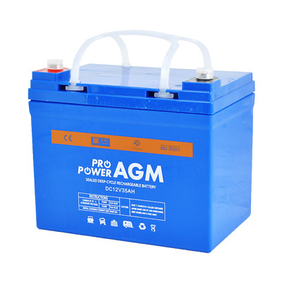 NEW 12V 35AH AGM >33ah size Deep Cycle Rechargeable Battery Solar Buggy Car Bike