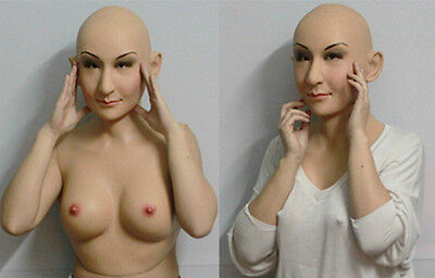 a realistic silicone mask ,the prop of cross dressing 2