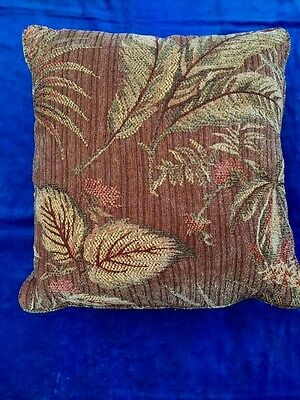 Key West TAPESTRY PILLOW Antique Vintage Palm Trees & Coconuts ESTATE 19 x 19