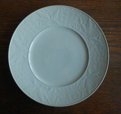 """Dinner Plate Royal Berlin Forest Path Light Green Celadon Fern & Insects 10 1/4"""""""