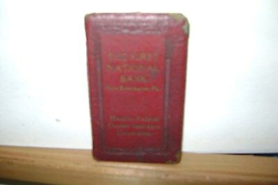 New Kensington PA Vintage Coin Bank Book The First National Bank