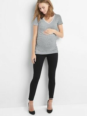 GAP Maternity demi panel true skinny jeans BLACK - Size 2 (25) NWT
