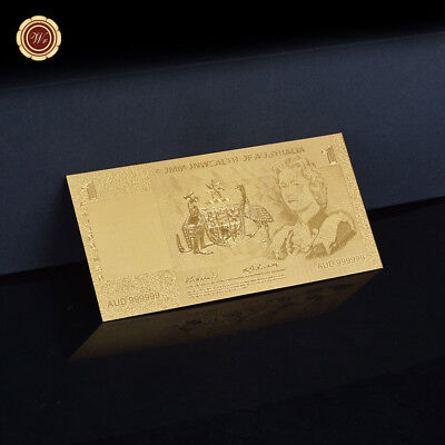 WR 1966 $1 One Dollar Commonwealth of Australia 24K Gold Plated Banknote Collect