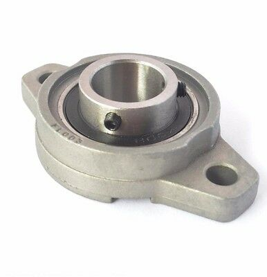 1Pc KFL004 Mounted Bearings Bolts Flanged Cast Housing Mounted Bearing 20mm Bore