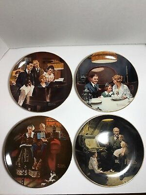 Norman Rockwell Light Campaign Series Collector Plates Knowles  Set of 4