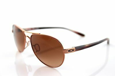 Oakley Women's Tie Breaker Sunglasses OO4108-08 Rose Gold VR50 Brown Gradient