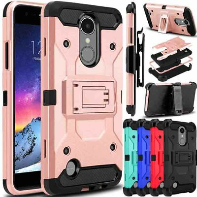 For LG Aristo 2 X210 / Tribute Dynasty Case Hybrid Clip Kickstand Holster Cover