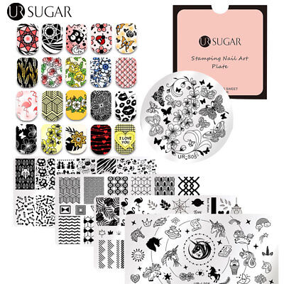 Nail Stamping Plates Valentine's Day Tropical  Manicure Image Template
