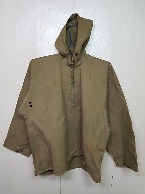 RARE 1940'S Vintage WW2 US Navy Raincoat Jacket US Military Clothes Uniform