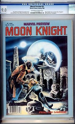Marvel Preview #21 CGC 9.0 Moon Knight Story Pre-dates Moon Knight #1 phl1