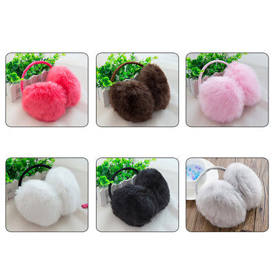 Fashional Keep Warm Winter Ear Muffs Faux Rabbit Fur 6 Color Multifunctional