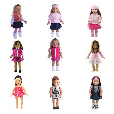 Outfit Clothes Set Fit 18inch American Girl Our Generation Pretty Colorful Doll
