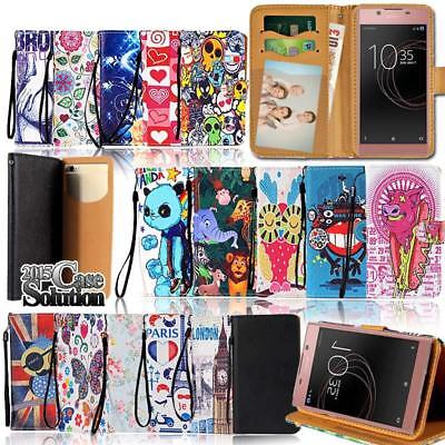 Leather Wallet Stand Magnetic Flip Case Cover For Sony Xperia E1 E3 E4 E5 Phones