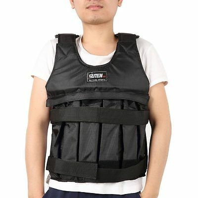 50KG Adjustable Loading Weighted Vest Fitness Running Gym Jacket Waistcoat UK