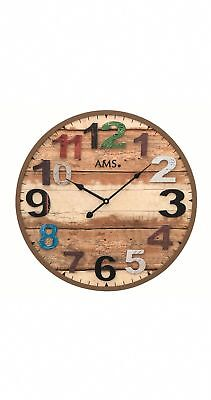 Modern wall clock with quartz movement from AMS AM W9539 NEW