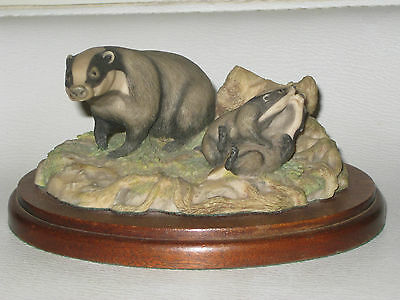 """Border Fine Arts Chiltern Collection """" Badger """" No. RW3 by Russell Willis 1988"""