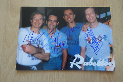 The Rubettes Autogramme full signed 10x15 cm Postkarte