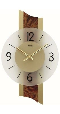 Modern wall clock with quartz movement from AMS AM W9393 NEW