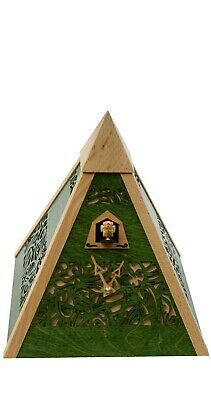 Modern cuckoo clock pyramid Green, quartz RH PYR-4 NEW